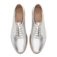 Rank & Style Top Ten Lists | Zara Patent Blucher #rankandstyle