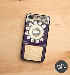 iPhone 5 Case Vintage Rotary Payphone iPhone 5S Case by CaseZilla