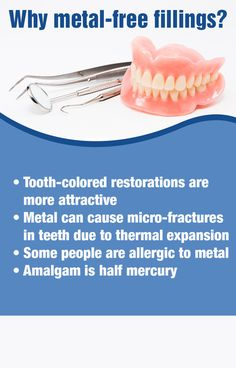 Learn more about metal-free fillings and other dental restorations at http://www.drjamesmedlock.com/ #MetalFreeFillings #DentistWestPalmBeach
