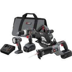 Porter-Cable Oscillating Multi-Tool Kit with 36 Accessories by Porter-Cable Cordless Power Drill, Cordless Drill Reviews, Craftsman Power Tools, Milling Machine For Sale, Best Portable Air Compressor, Porter Cable, Drill Driver, Drills