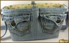 Recycled Jeans Bag // Upcycled Denim // Jean Purse // Jeans Purse