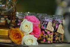 Trail mix jars at a Glamping Party #glamping #party