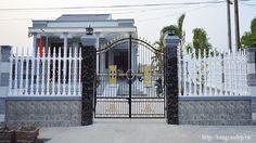 Hàng rào biệt thự theo phong cách hiện đại
