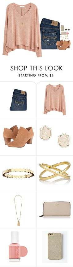 """""""ITS FRI-YAY!!!"""" by remiii13 ❤ liked on Polyvore featuring Abercrombie & Fitch, MANGO, Jack Rogers, Kendra Scott, Chaumet, Eva Fehren, J.Crew, Kate Spade, Essie and women's clothing"""
