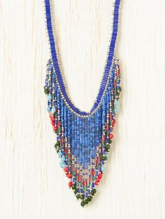 sead bead craze....  Aztec Seed Bead Necklace