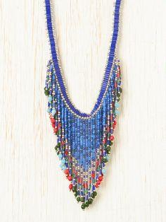 sead bead craze....  Aztec Seed Bead Necklace