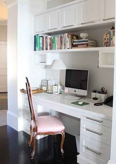 I love the look of this desk.  I want 1 side drawers and 1 side with 1 drawer and door.  The upper will be 2 ikea style floating shelves.