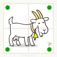 Preschool and children& animal puzzle, let& cut. - Preschool and children& animal puzzle, let& cut. Preschool and children& animal p - Cutting Activities, Preschool Learning Activities, Preschool Lesson Plans, Animal Activities, Alphabet Activities, Preschool Activities, Activities For Kids, Flashcards For Kids, Toddler Busy Bags