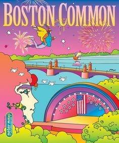 Boston Common magazine cover by Peter Max. New magazine cover series up for auction June 3, 2014