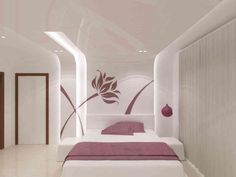 Flat @ Trident towers by Samanth gowda, Architect in Hyderabad ,Telangana, India Modern Bedroom Design, Bed Design, Decor Interior Design, Modern Bedrooms, Luxury Rooms, Luxurious Bedrooms, Bedroom Furniture, Bedroom Decor, False Ceiling Design