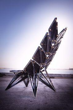 Black Crystal Lounger by Atelier I-N-D-J Black Crystal Lounger by Atelier…