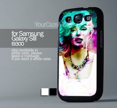 Marilyn Monroe Colorful, For Samsung s3 Hard Plastic Black | YourCazeMate - Accessories on ArtFire