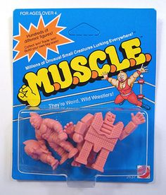Didn't like plastic army soldiers or legos but loved these stupid rubber wrestlers