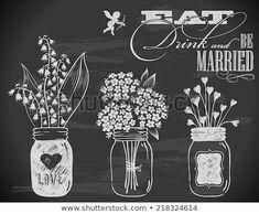 hand-drawn wedding invitation with flowers on chalkboard - Chalk Art - Blackboard Art, Chalkboard Lettering, Chalkboard Designs, Chalkboard Drawings, Chalkboard Paint, Summer Chalkboard Art, Blackboard Drawing, Chalkboard Ideas, Chalk Wall