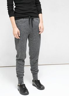 Flecked jogging trousers -  Women | OUTLET