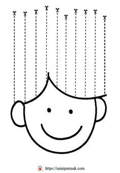 Scissor Practice, Cutting Practice, Scissor Skills, Kids Math Worksheets, Tracing Worksheets, Preschool Class, Preschool Activities, Math For Kids, Crafts For Kids