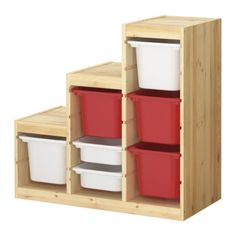 TROFAST Storage combination with boxes IKEA Several grooves allow you to place boxes/shelves where you want them. Wipe-clean quality.