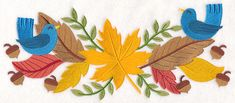 Free Embroidery Design: Autumn Border