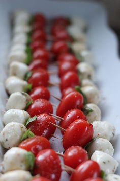 Simple caprese apetizer