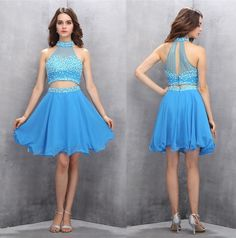 Two Piece Homecoming Dresses,Short Homecoming Dresses,Prom Dress,2 Piece Prom Dresses,Beading Evening Dresses,Sweet 16 Dress