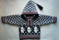 Trendy winter sweater for children with moomin pattern