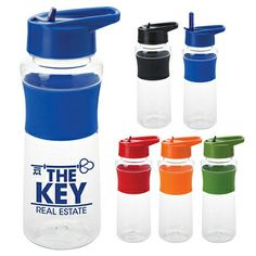 NEW Promotional 24 oz. Color Gripper Bottle #waterbottles #realestate #logo #business #marketing #gifts #health