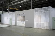 Semi-transparant pavilion for Royal Mosa by Zeeprojects.
