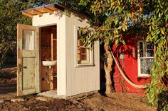 Howabout a fully plumbed luxury outhouse?