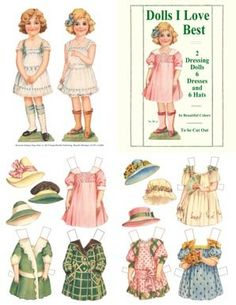 Dolls I Love Best, Restored 1910 Paper Doll by Frances Brundage | Artist Margaret G. Hays, [sister to Grace Drayton (Dolly Dingle.)] 1913 for Donahoe Co. of Chicago. 6 pages of 6 little girls with costumes inspired by flowers: Lily of the Valley, Rose, Poppy, Forget-me-Not, Daisy, and Pansy.
