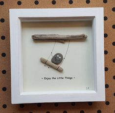 This Quirky Enjoy The Little Things Pebble Art is completely unique, made using pebbles i personally gathered from Devon beaches. I have designed the background myself, and have printed the text as shown. The pebble has 3d googly eyes securely attached to give them a playful