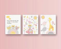 Baby Girl Room Ideas Nursery wall Art Print For by DesignByMaya, $70.00