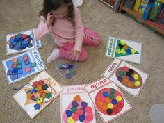 sorting shapes. Need to make these. My kids need the extra visual prompt.