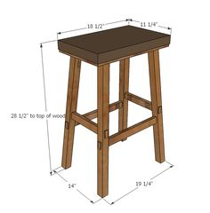 Ana White | No Sew Cayden Nailhead Bar Height Stool - DIY Projects