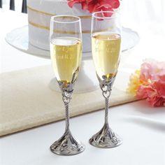 Champagne flute idea (Classy Bride)