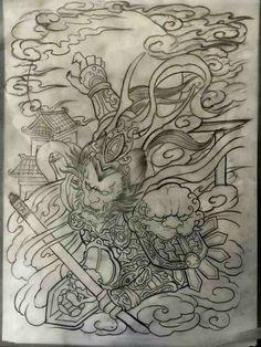 Solid Black Tattoo, Grey Tattoo, Black Tattoos, Japanese Tattoo Designs, Japanese Tattoo Art, King Tattoos, Body Art Tattoos, Tattoo Sketches, Tattoo Drawings