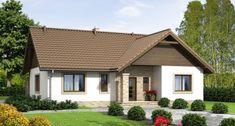 Swen II 96.61 m2 | Projekt domu dwurodzinnego | projekty domów | kreoDOM.pl One Floor House Plans, Rural House, House Viewing, Spanish Style Homes, Roof Design, Small House Design, Wooden House, Design Case, Cottage Homes