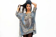 On sale  Long sleeves plus size blue colors by sevenseventyfashion, $79.00