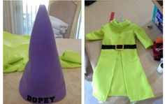 Dopey Costume DIY. 7 Dwarfs Costumes, Disney Costumes, Baby Costumes, Dance Costumes, Shrek Costume, Dwarf Costume, Costume Shop, Dwarf Girl, Scary Halloween