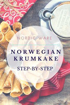Cardamon Krumkake Recipe- Learn how to make a traditional Krumkake dessert using Nordic Ware's Norwegian Krumkake Iron