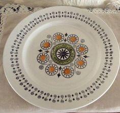 Kathie Winkle Renaissance Dining Plate/ Retro Item by MerryLegsandTiptoes on Etsy