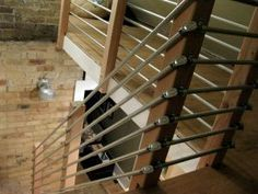 copper pipe as horizontal stair railing - Google Search