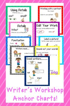 Writer's Workshop Anchor Charts!