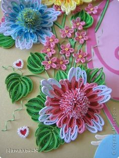 *QUILLING ~ The painting mural drawing Family Day Applique family nest Paper Quilling strips Cardboard Glue photo 9
