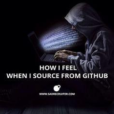 GitHub is for hackers, I believe? #recruiting #github #sourcing #jobs #hackers