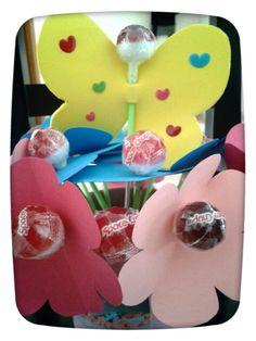 Papallones i flors de chupa chups