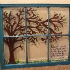 Old window painted by my daughter, Casie.