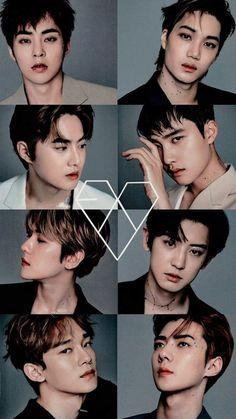 The EXO members just get better and better with age Kpop Exo, Baekhyun Chanyeol, Luhan And Kris, Bts And Exo, Ff Exo, K Pop, Exo Album, Exo Group, Exo Lockscreen