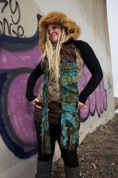 791d4bf7fedc Dark Forest Pixie Scoodie Hood Hoodie Festival Clothing