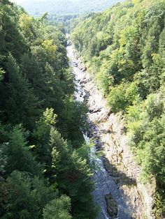 Quechee Gorge,VT.   Would love to have been here in the fall- beautiful anytime of the year.