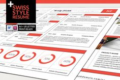 Swiss Style Resume by FDwight on Creative Market